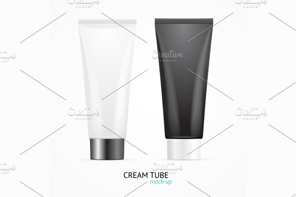Cream Tube Mock Up Set. Vector in Illustrations - product preview 1