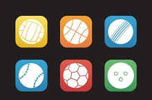 Sport balls icons. Vector