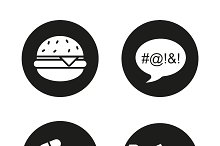 Bad habits icons. Vector