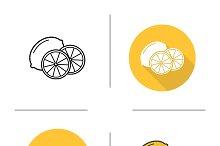 Lemon icons. Vector