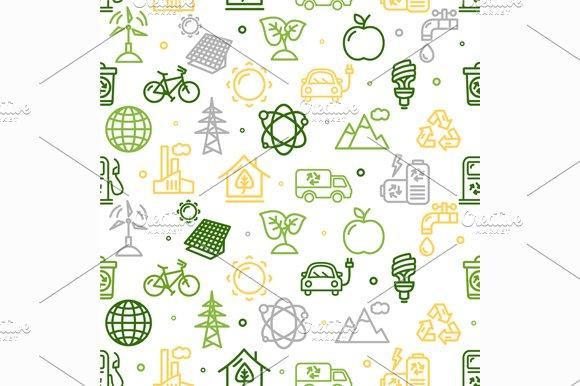 Ecology Background Pattern. Vector - Patterns