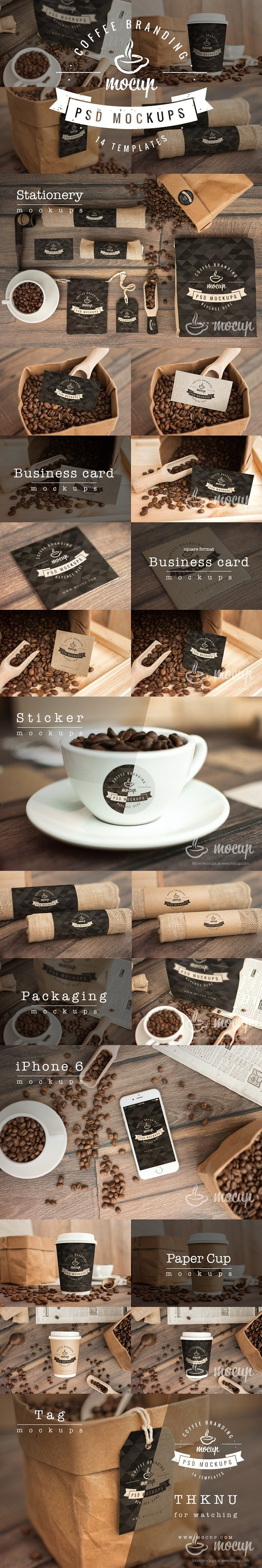 Download 14 PSD Coffee Branding Mockups