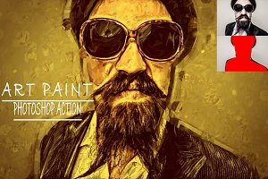 Art Paint Photoshop Action