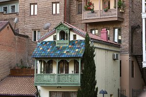 Architecture of the Old Town in Tbilisi