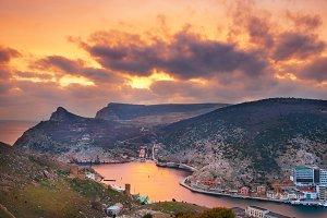Sunset above Balaklava bay