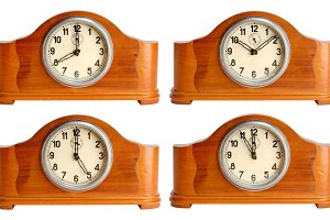 Vintage wooden clocks