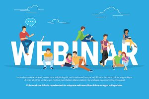Webinar concept vector illustration
