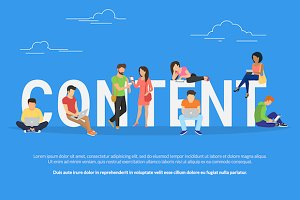 Content concept vector illustration