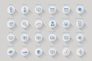 42 Seo Vector Icons