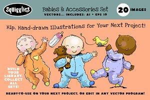 Babies & Accessories Set