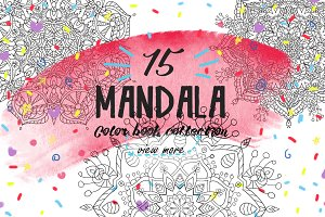 SALE!Mandala!Color book for adult.