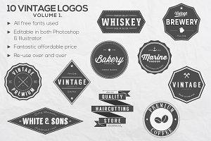 10 Vintage Logos Vol.1