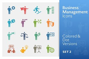 Colored Business Management Icons 2