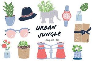 Urban Jungle Clip Art Set