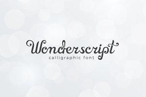 Wonderscript Calligraphic Font
