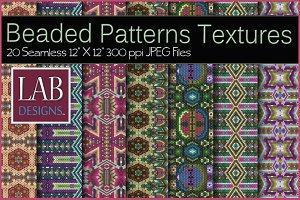 20 Beaded Boho Pattern Textures