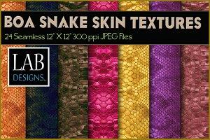 24 Boa Snake Skin Seamless Textures