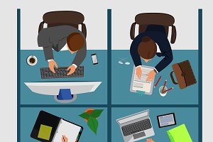 business workplace, vector