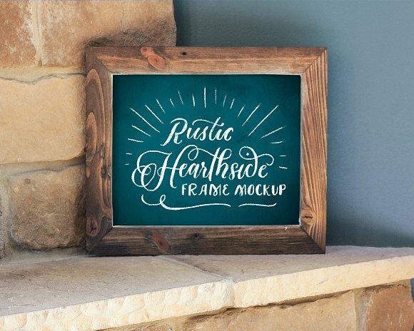 8x10 Rustic Hearthside Frame Mockup Product Mockups Creative Market