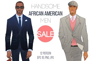 Handsome African American Men