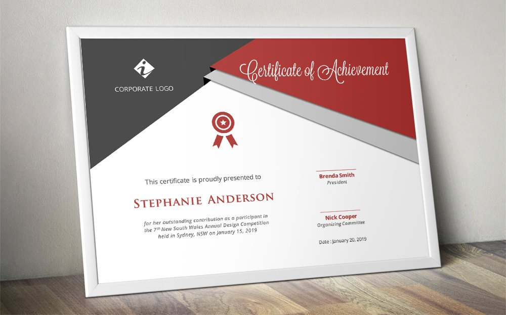 50 certificate templates to design stunning awards creative market script triangle certificate design yelopaper Image collections