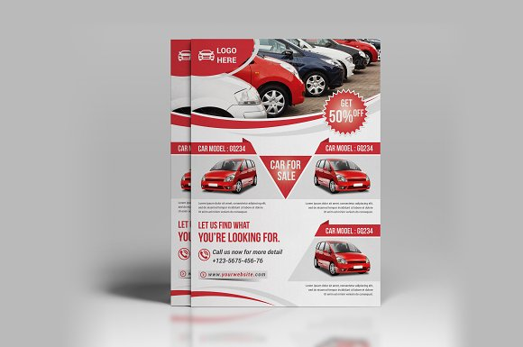 Car for Sale Flyer Flyer Templates on Creative Market – Car for Sale Flyer
