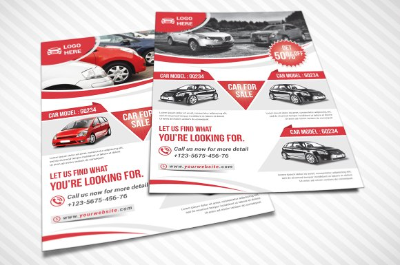 Car for Sale Flyer Flyer Templates on Creative Market – Car for Sale Flyer