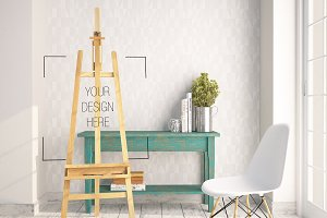 Styled Stock Photo, vintage Easel