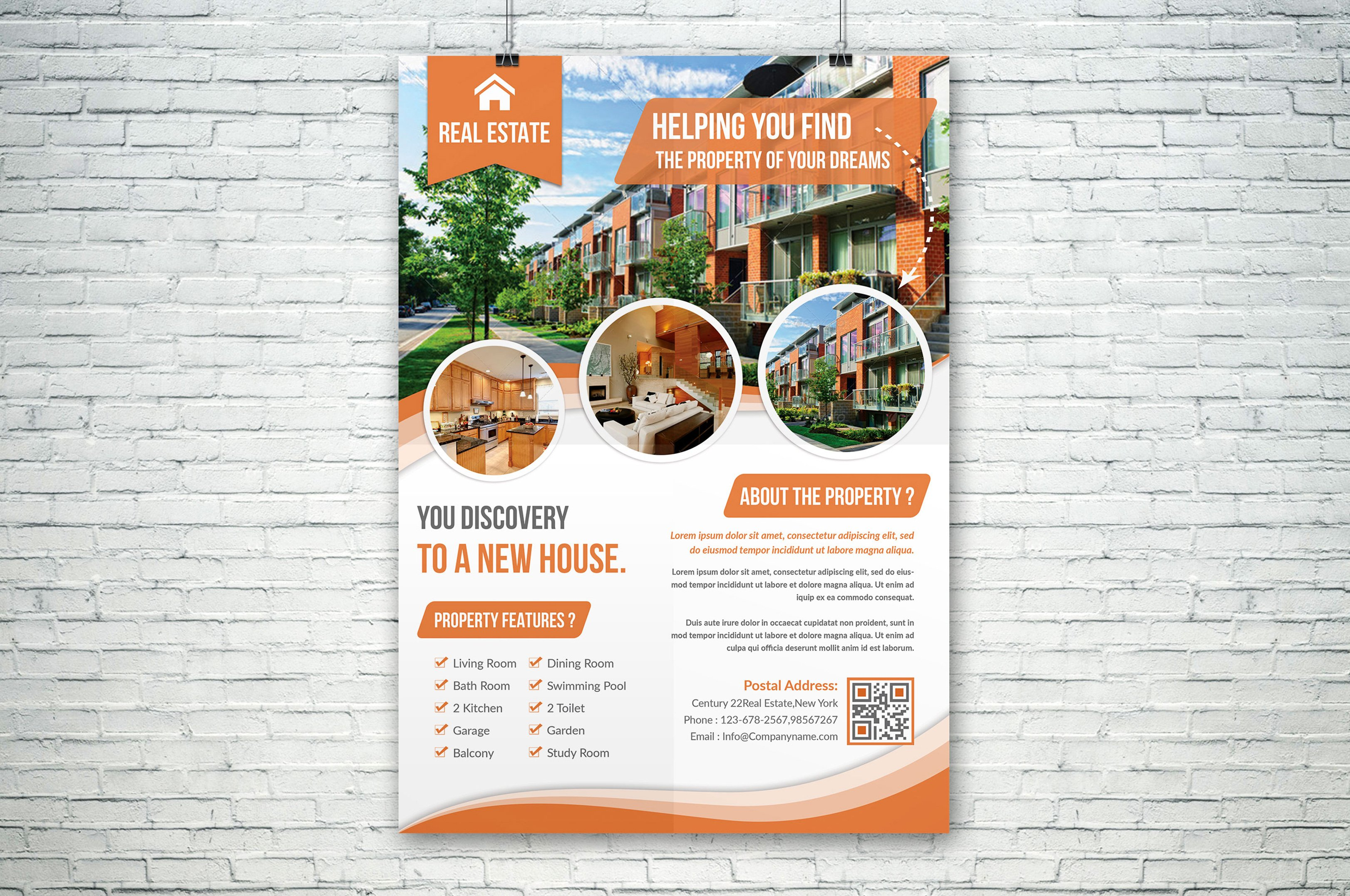 Real Estate Flyer Flyer Templates Creative Market - House for sale brochure template