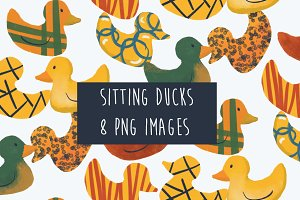 Sitting Ducks Clip Art