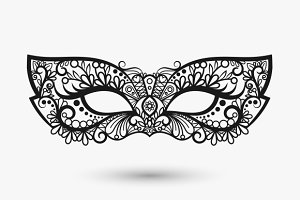 Beautiful lace mask