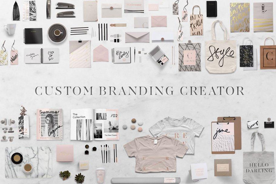 a790d8f3ae2e Custom Branding Creator ~ Branding Mockups ~ Creative Market
