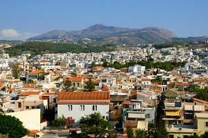 View on city of Rethymno, Crete