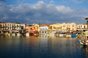 Old Venetian harbour in Rethymno