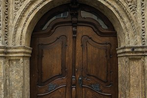 Medieval oak wood door