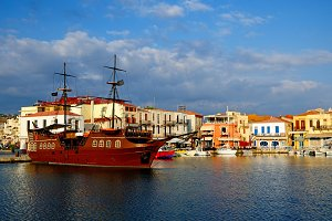 Old harbour in Rethymno, Crete