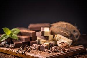 Homemade chocolate bars