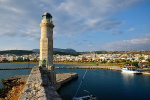 Old lighthouse in Rethymno, Crete
