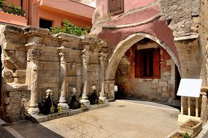 Old venetian fountain in Rethymno