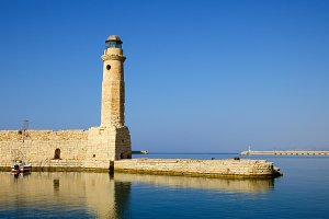 Old venetian lighthouse in Rethymno