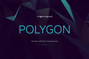 Polygon Abstract BGs|Sea style