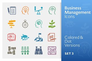 Colored Business Management Icons 3