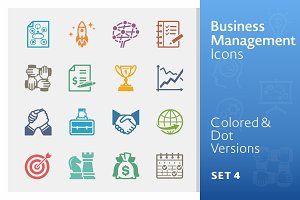 Colored Business Management Icons 4