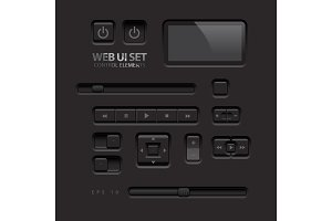 Black Web UI Elements2