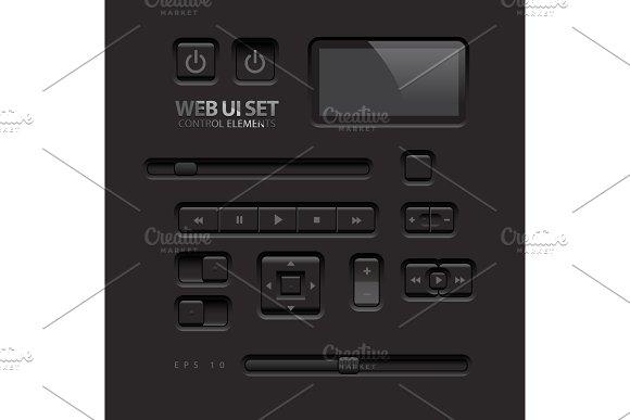 Black Web UI Elements2