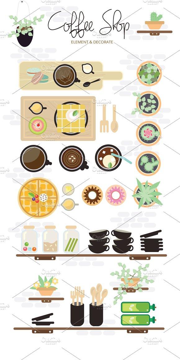 Coffee Shop Element & Decorate