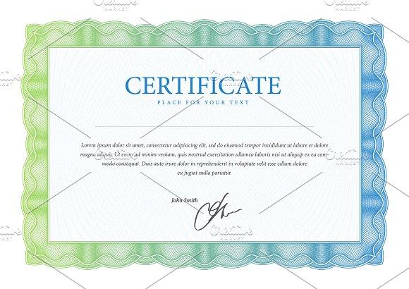 Certificate12 in Illustrations