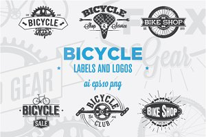 12 Bicycle Labels and Logos