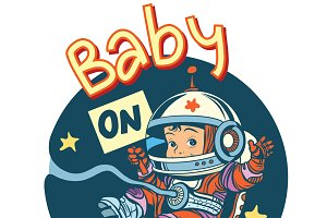 Baby on Board pregnancy cosmonaut