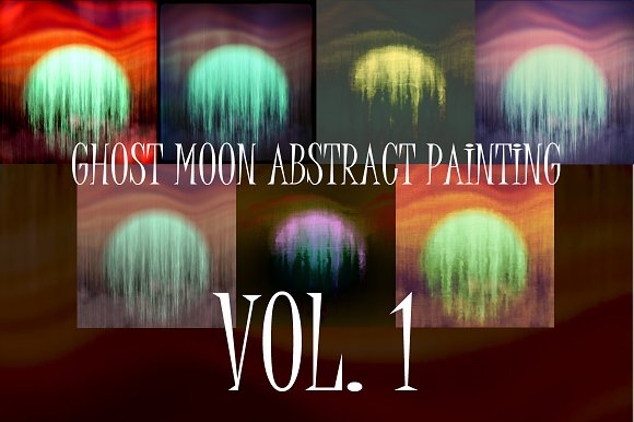 Ghost Moon abstraction